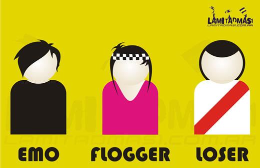 Emo Flogger Loser, Afiche de Boca