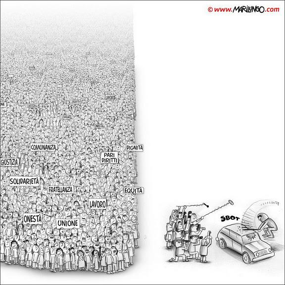 El foco de los medios en las protestas