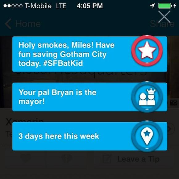 #SFBatKid en Foursquare
