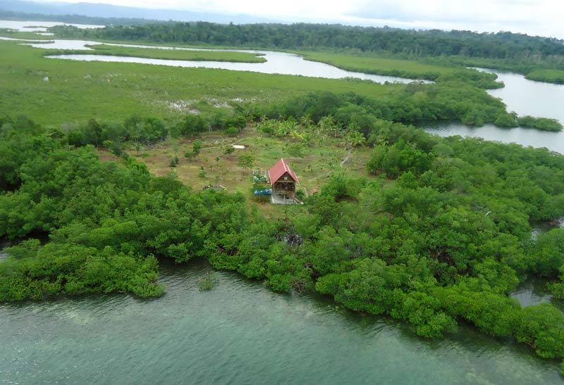 La isla de Ian Usher en Panamá