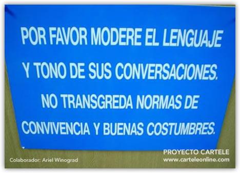 Cartelito informativo Lenguajeybuenascostumbres