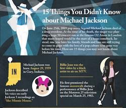 15 cosas que no sabias de Michael Jackson