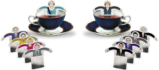 Saquitos de té con onda