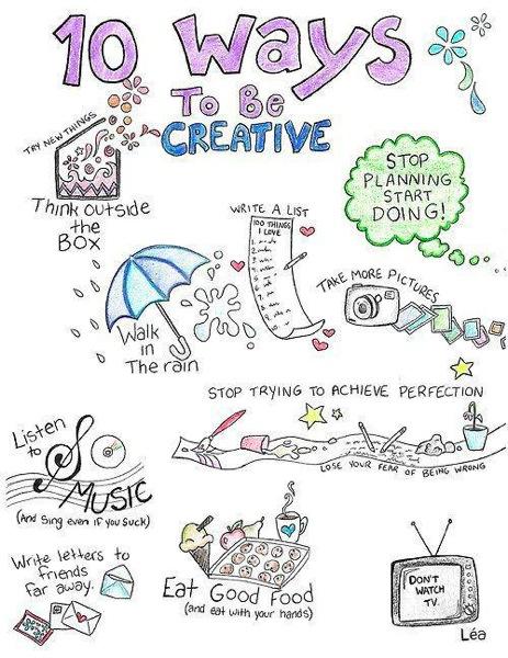 10 maneras de ser creativo