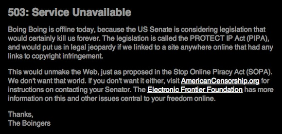 Stop SOPA - Boing Boing