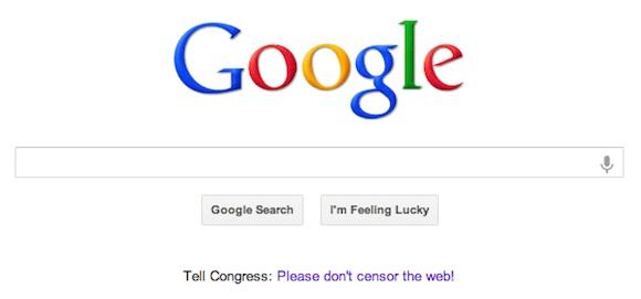 Stop SOPA - Google