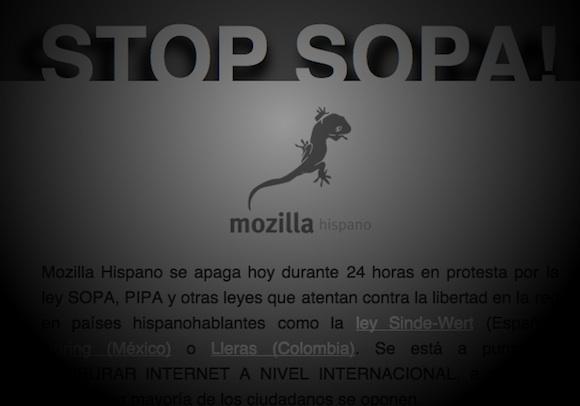 Stop Sopa - Mozilla