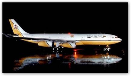 El avión del Sultan de Brunéi